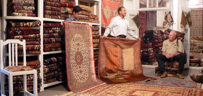 ペルシャ絨毯の買い付け