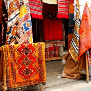 ペルシャ絨毯の工房